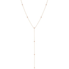 Zoë Chicco 14kt Rose Gold Floating Diamonds Lariat Necklace