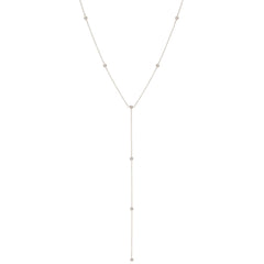Zoë Chicco 14kt White Gold Floating Diamonds Lariat Necklace