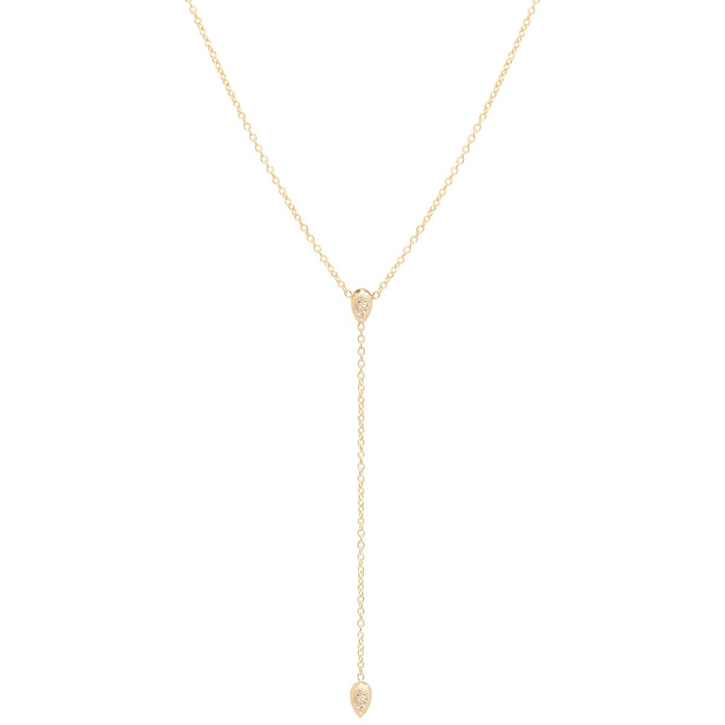Zoë Chicco 14K Scattered LOVE Station Necklace 9nI8QHqiP