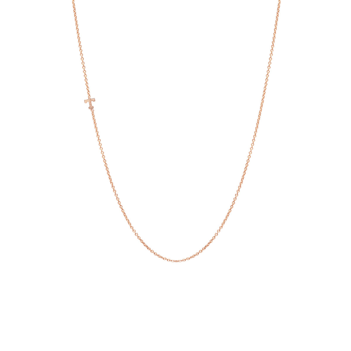 14k itty bitty letter necklace