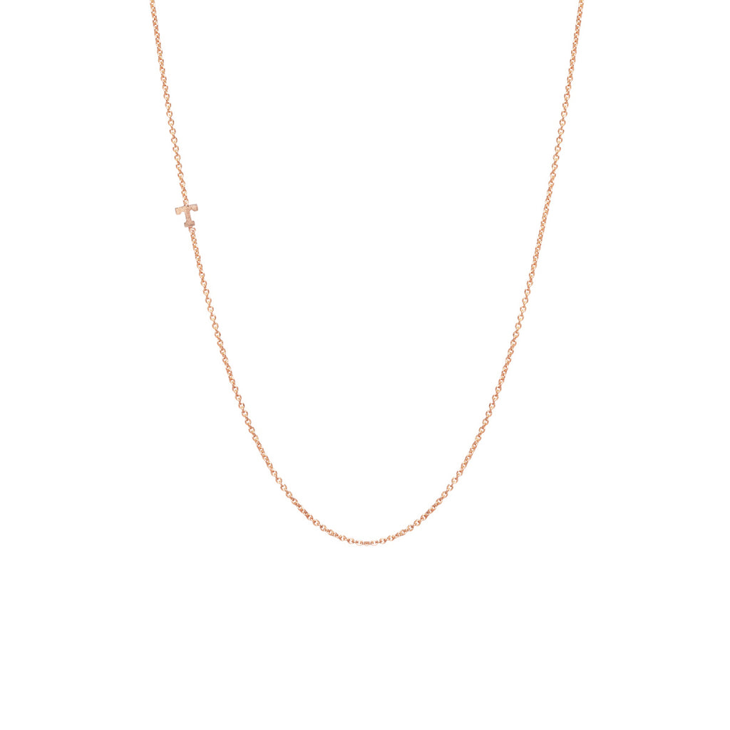 Zoë Chicco 14kt Yellow Gold Itty Bitty Letter Necklace