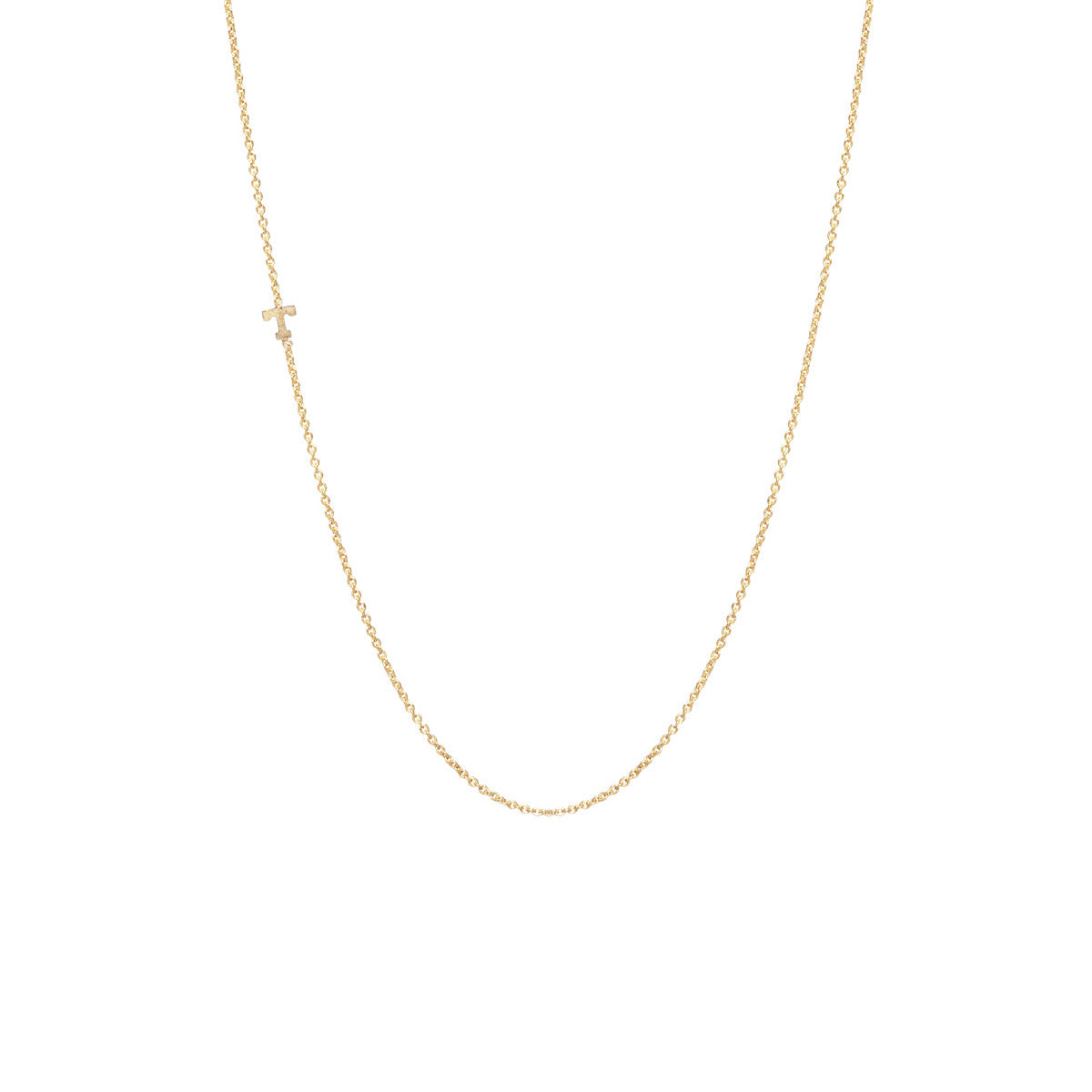 love gold c dogeared letter necklace dipped