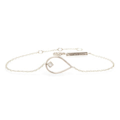 14k open tear princess diamond bracelet