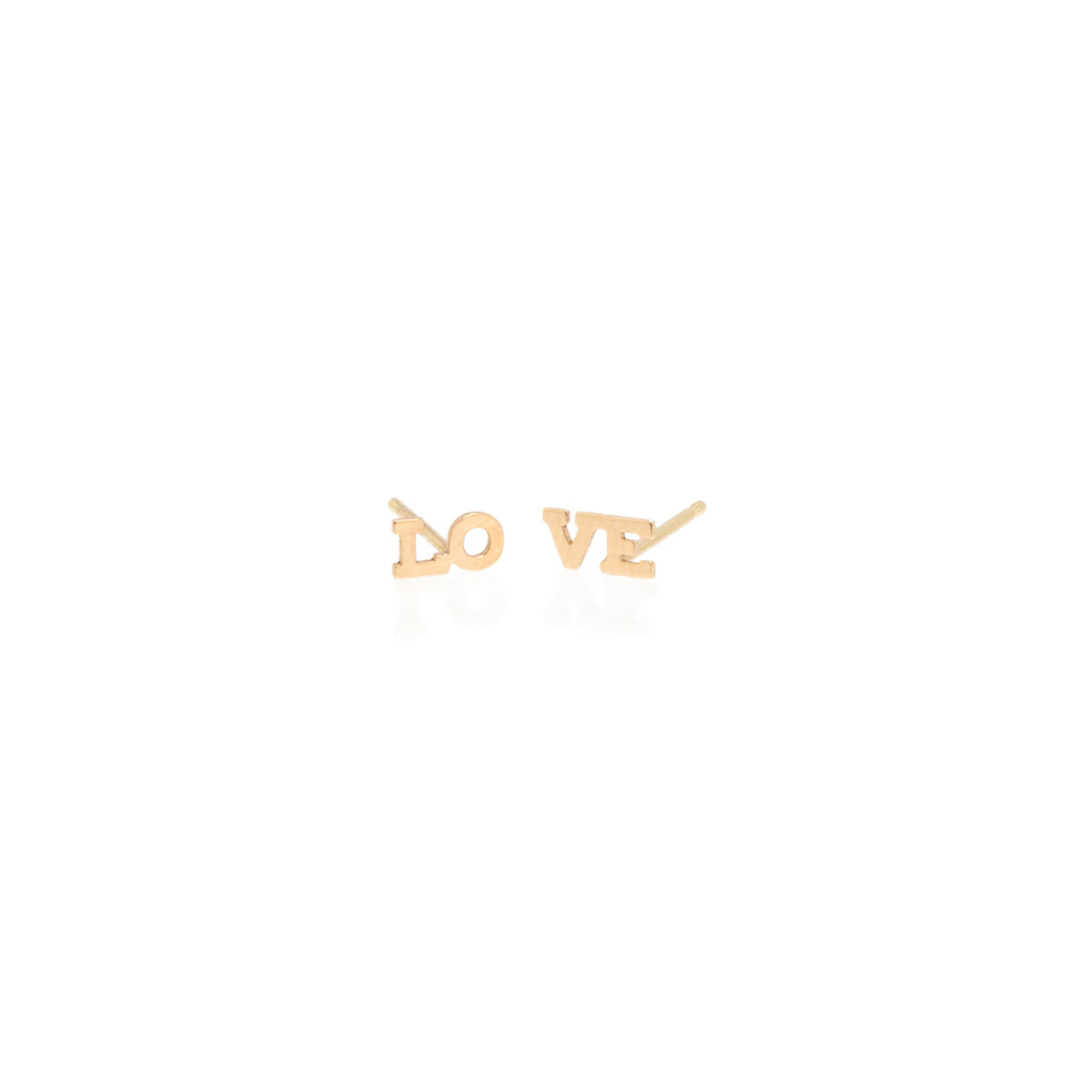 Zoë Chicco 14kt Yellow Gold Itty Bitty Split LOVE Studs