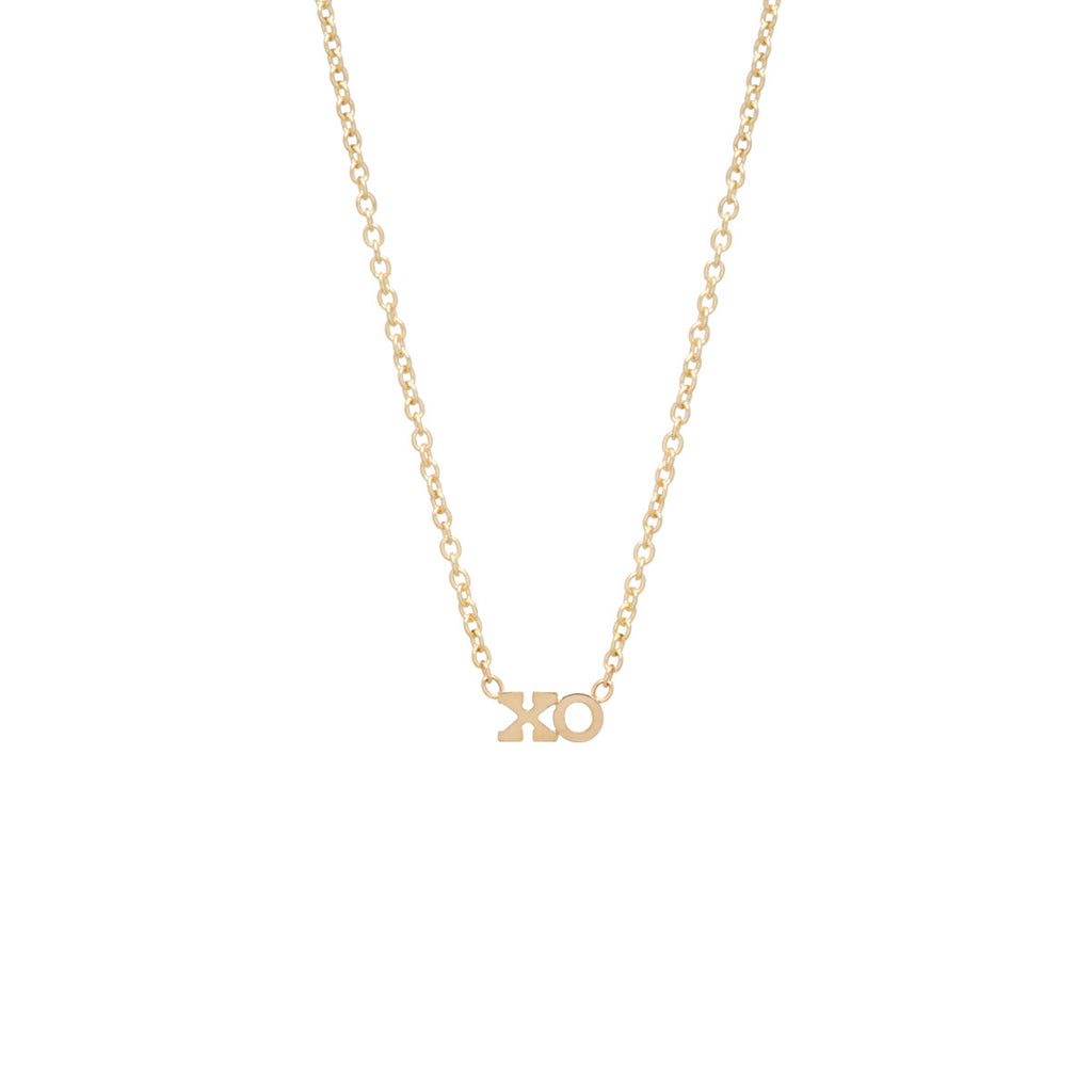 Zoë Chicco 14kt Yellow Gold Itty Bitty XO Necklace