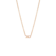 Zoë Chicco 14kt Rose Gold Itty Bitty XO Necklace