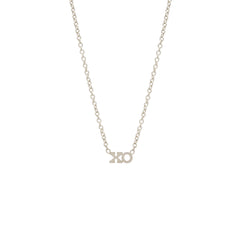 Zoë Chicco 14kt White Gold Itty Bitty XO Necklace