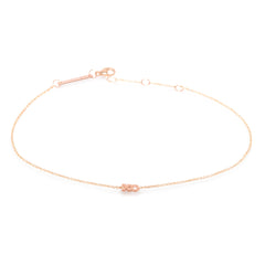 Zoë Chicco 14kt Rose Gold Itty Bitty XO Anklet
