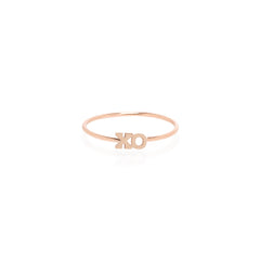 Zoë Chicco 14kt Rose Gold Itty Bitty XO Ring