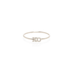Zoë Chicco 14kt White Gold Itty Bitty XO Ring