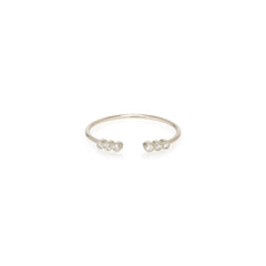 14k open tiny bezel diamond ring
