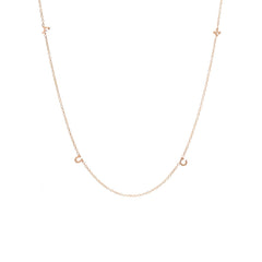 Zoë Chicco 14kt Rose Gold Itty Bitty Spread Out FUCK Necklace