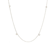 Zoë Chicco 14kt White Gold Itty Bitty Spread Out FUCK Necklace