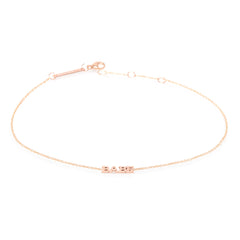 Zoë Chicco 14kt Rose Gold Itty Bitty BABE Anklet