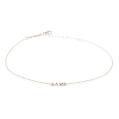 Zoë Chicco 14kt White Gold Itty Bitty BABE Anklet
