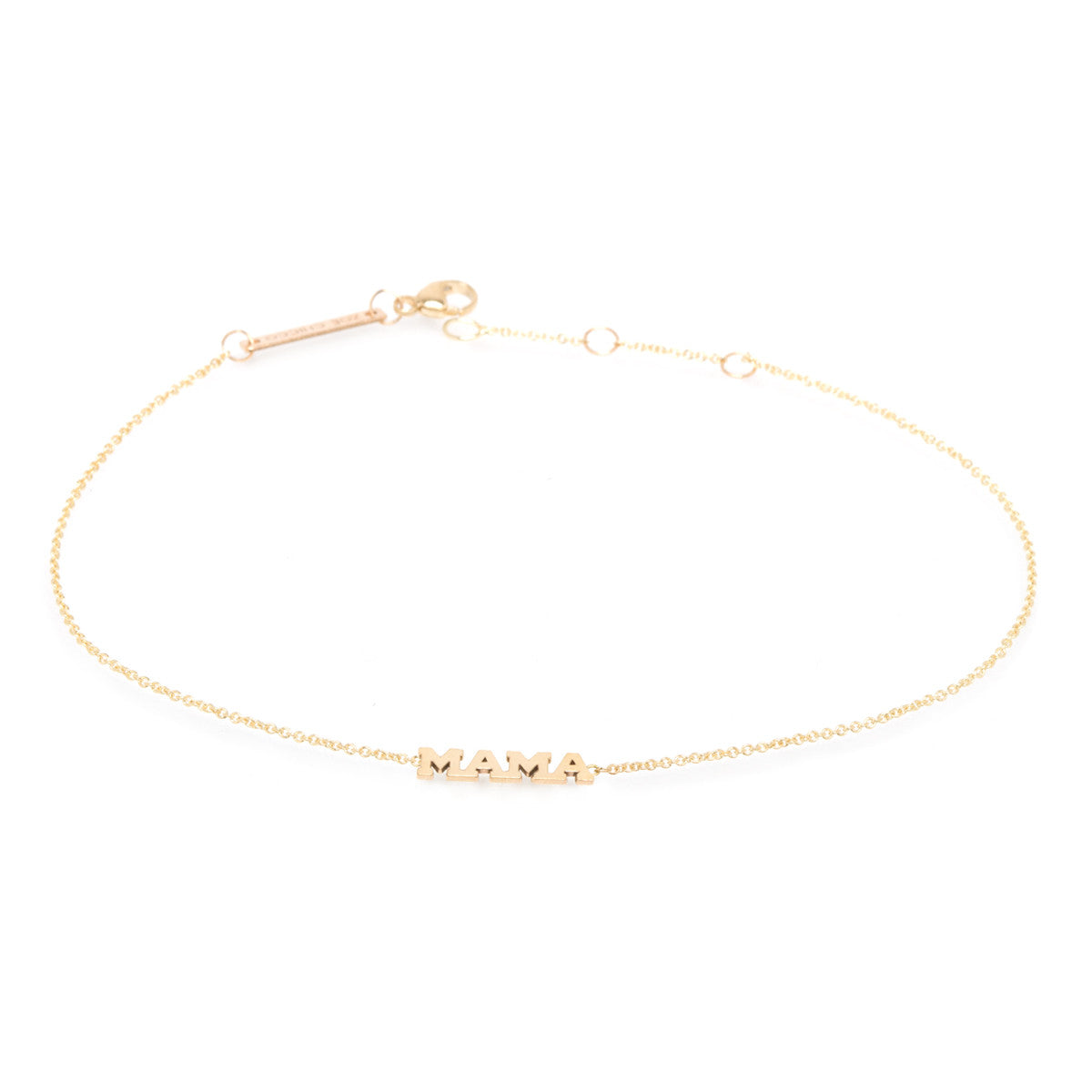 Zoë Chicco 14kt Yellow Gold Itty Bitty MAMA Anklet