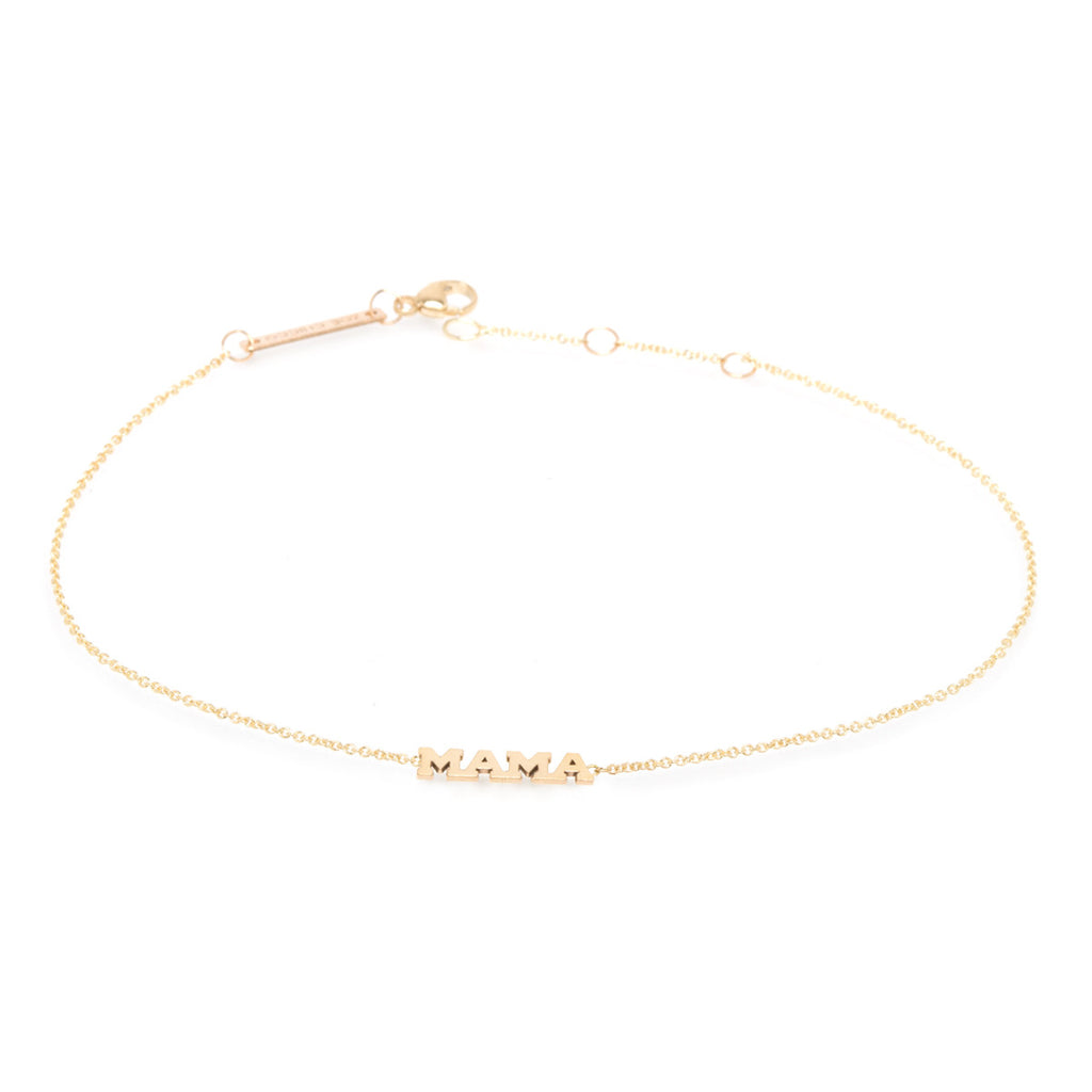 14k itty bitty mama anklet