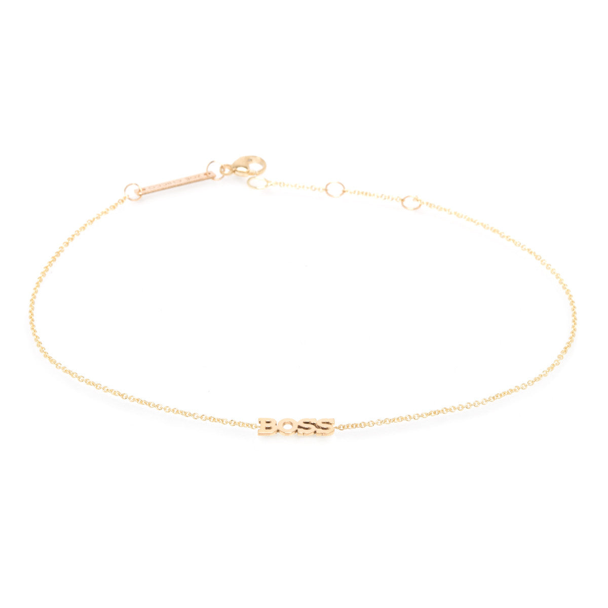 14k itty bitty BOSS anklet