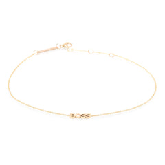 Zoë Chicco 14kt Yellow Gold Itty Bitty BOSS Anklet