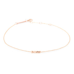 Zoë Chicco 14kt Rose Gold Itty Bitty BOSS Anklet
