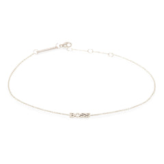Zoë Chicco 14kt White Gold Itty Bitty BOSS Anklet
