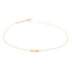 14k itty bitty DOPE anklet
