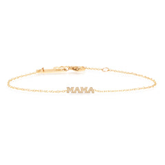Zoë Chicco 14kt Yellow Gold Itty Bitty MAMA Bracelet