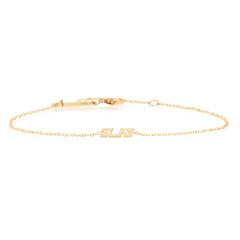 Zoë Chicco 14kt Yellow Gold Itty Bitty SLAY Bracelet