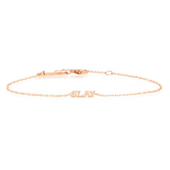 Zoë Chicco 14kt Rose Gold Itty Bitty SLAY Bracelet