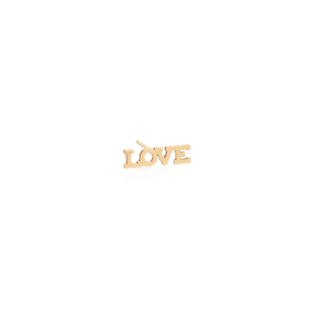 14k tiny love stud
