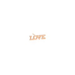 Zoë Chicco 14kt Rose Gold Itty Bitty LOVE Stud Earring