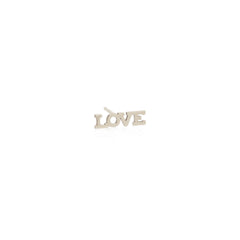 Zoë Chicco 14kt White Gold Itty Bitty LOVE Stud Earring