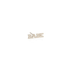 Zoë Chicco 14kt White Gold Itty Bitty BABE Stud Earring