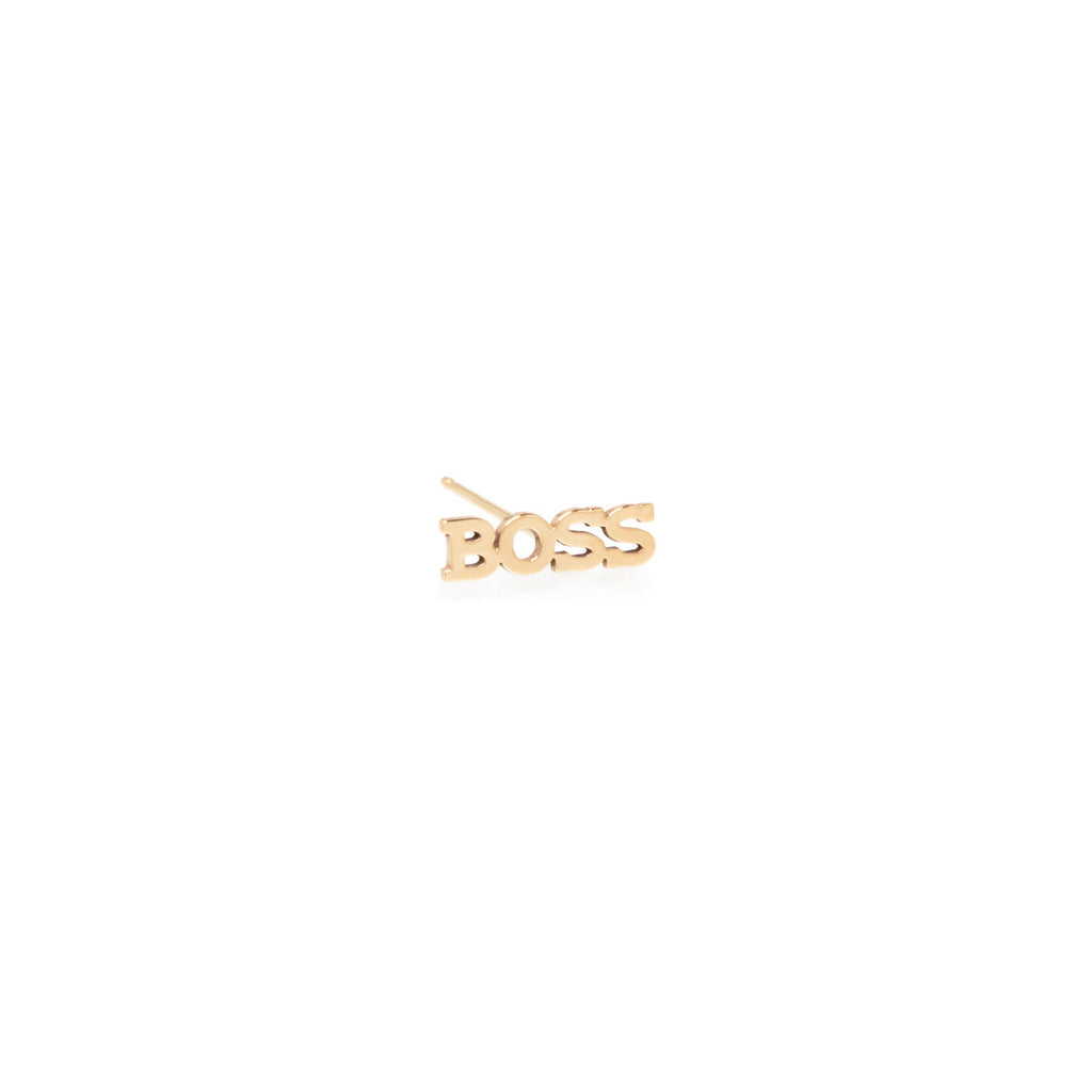 Zoë Chicco 14kt Yellow Gold Itty Bitty BOSS Stud Earring