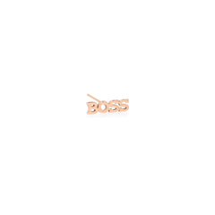 Zoë Chicco 14kt Rose Gold Itty Bitty BOSS Stud Earring