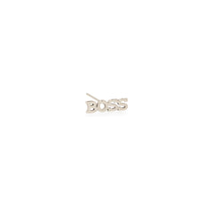 Zoë Chicco 14kt White Gold Itty Bitty BOSS Stud Earring