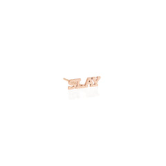 Zoë Chicco 14kt Rose Gold Itty Bitty SLAY Stud Earring