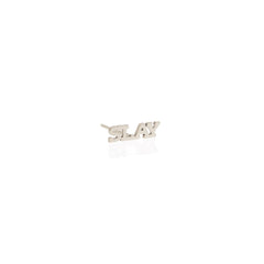 Zoë Chicco 14kt White Gold Itty Bitty SLAY Stud Earring