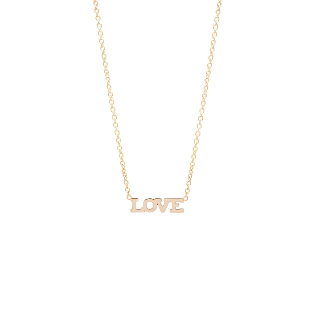 14k Itty Bitty Love Necklace