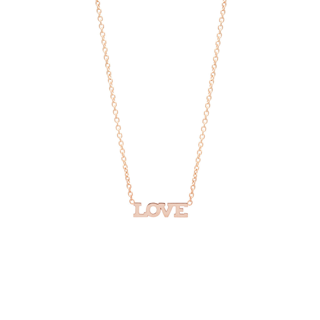 Zoë Chicco 14kt Yellow Gold Itty Bitty LOVE Necklace