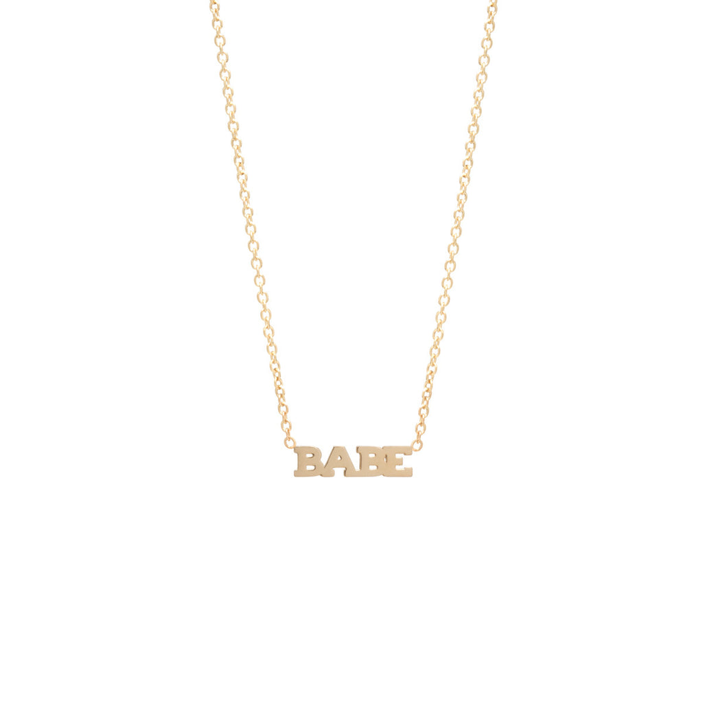 14k Itty Bitty Babe Necklace