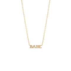 Zoë Chicco 14kt Yellow Gold Itty Bitty BABE Necklace