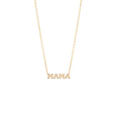 Zoë Chicco 14kt Yellow Gold Itty Bitty MAMA Necklace