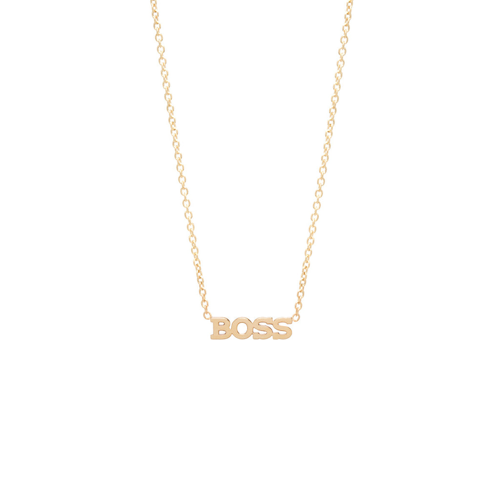14k Itty Bitty Boss Necklace