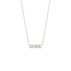 14k itty bitty DOPE necklace