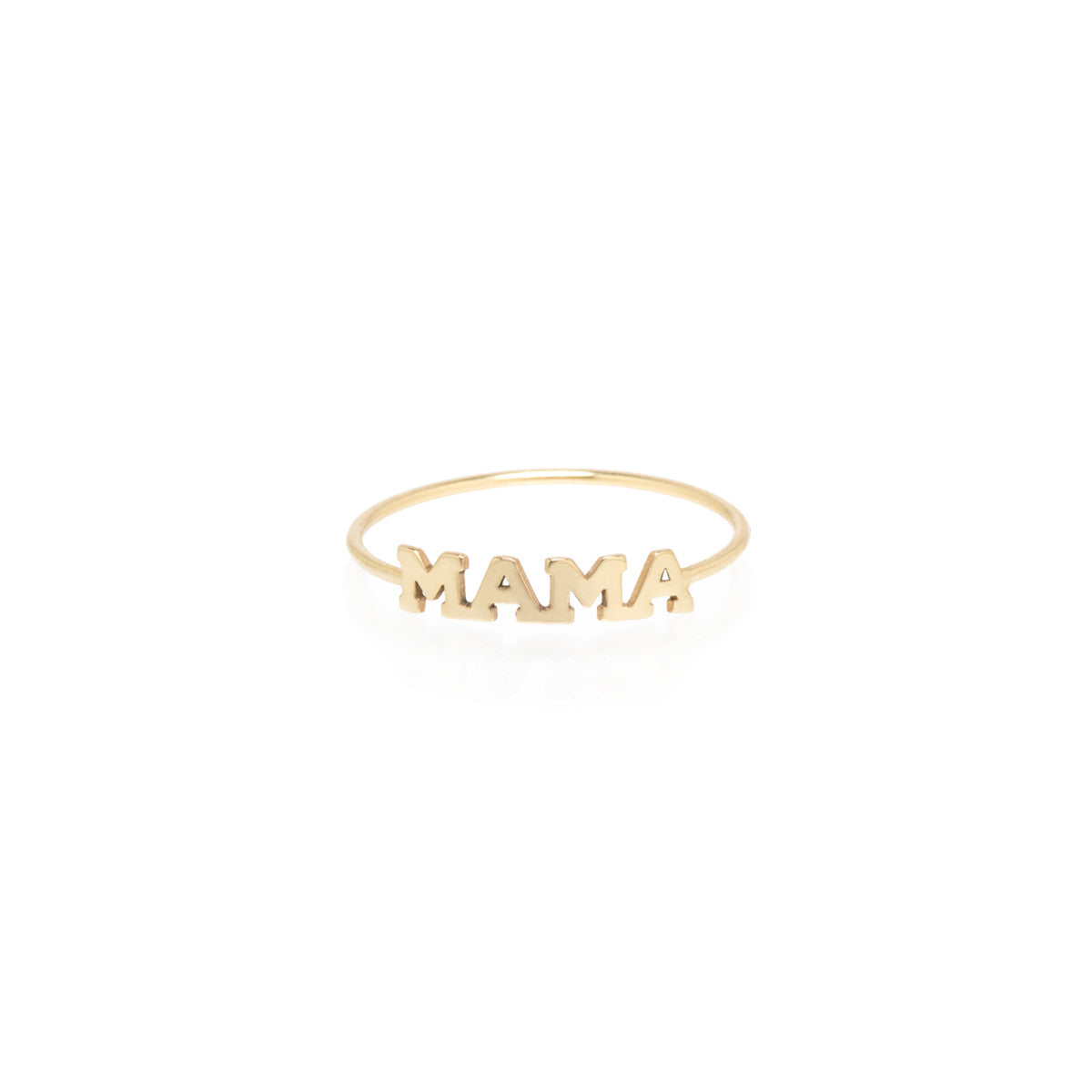 Zoë Chicco 14kt Yellow Gold Itty Bitty MAMA Ring