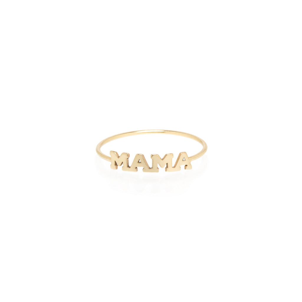 14k itty bitty mama ring