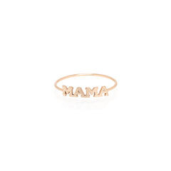 Zoë Chicco 14kt Rose Gold Itty Bitty MAMA Ring