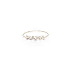 Zoë Chicco 14kt White Gold Itty Bitty MAMA Ring