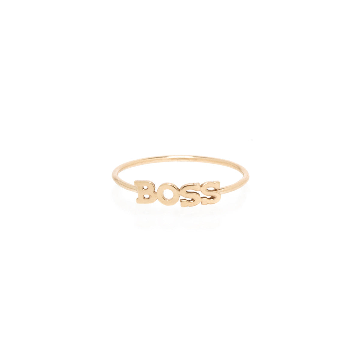 14k itty bitty BOSS ring